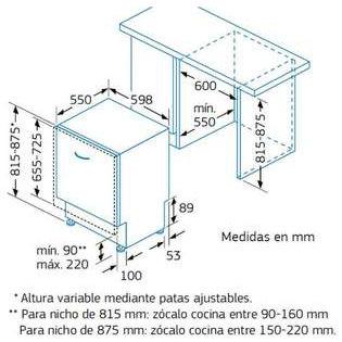 Cemevisa lavavajillas balay 3vf301np 39 kc for Medidas lavavajillas 60
