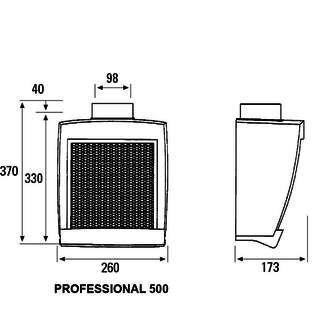 Cemevisa extractor de cocina cata professional 500 - Extractor cocina cata ...